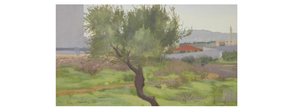 Bethlehem, 2012, oil on canvas, 14 in. x 17.5 in. (Courtesy Abraham Storer)
